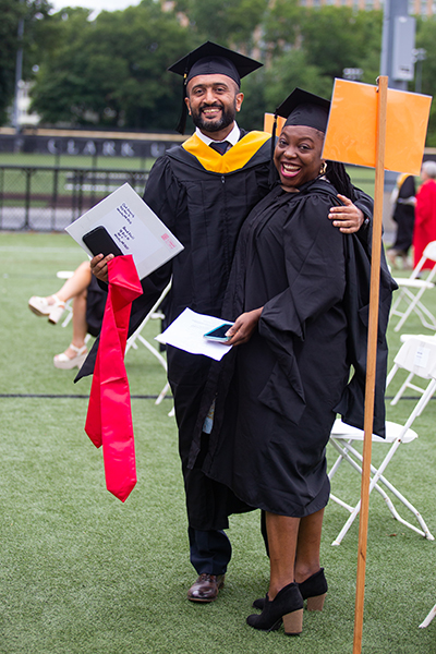 Students at the Clark graduate commencement