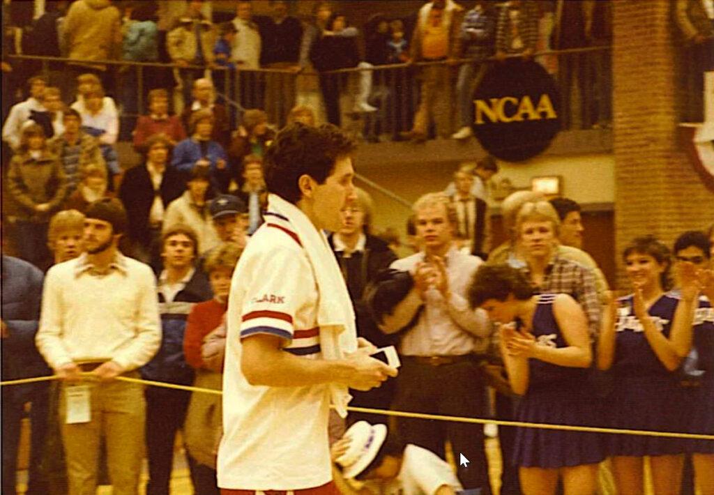 Dan Trant in the Kneller Athletic Center