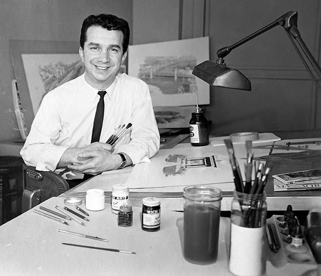 Gene DiRado in his office at the Massachusetts Department of Public Works