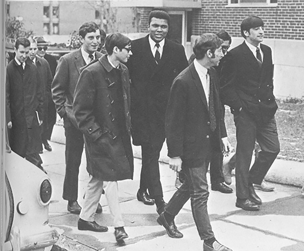 Muhammad Ali with Clark students in 1968