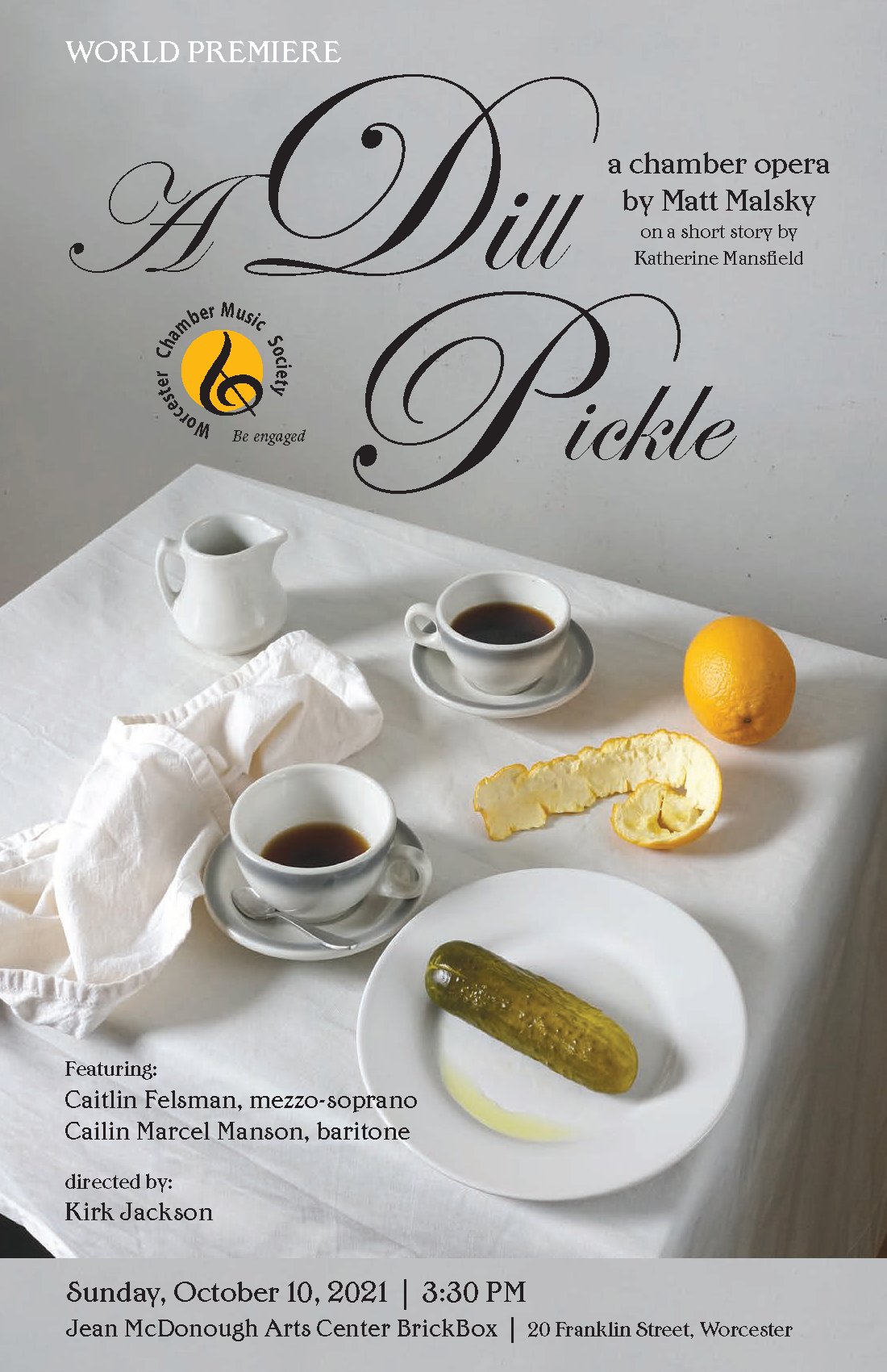 A Dill Pickle opera flyer
